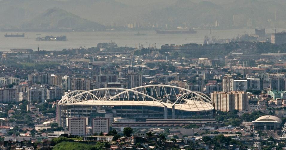Vista panorâmica do Estádio Olímpico João Havelange, o Engenhão