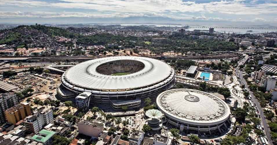 12.abr.2013 - Maracanã praticamente pronto para seu primeiro evento-teste após reforma