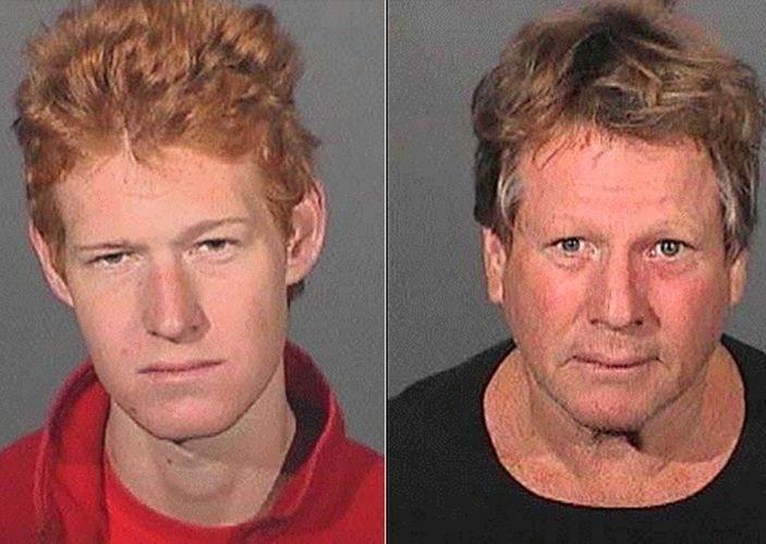 17.set.2008 - O ator Ryan O'Neal e seu filho com a atriz Farrah Fawcett, Redmond O'Neal, foram detidos em casa por posse de drogas, em Malibu