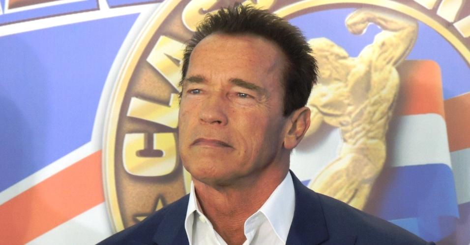 26.ABR.2013 - Arnold Schwarzenegger em evento no Rio de Janeiro