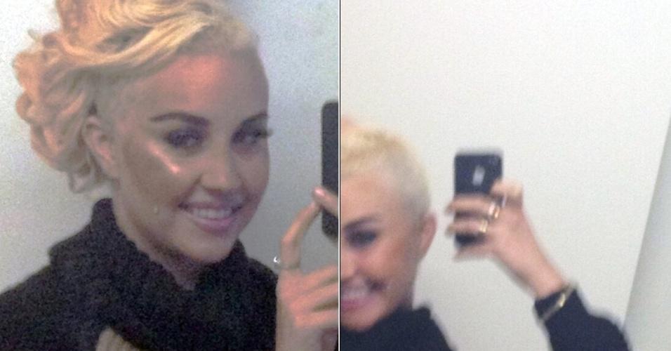 Amanda Bynes raspa a cabeça e afirma que está feliz com o novo visual