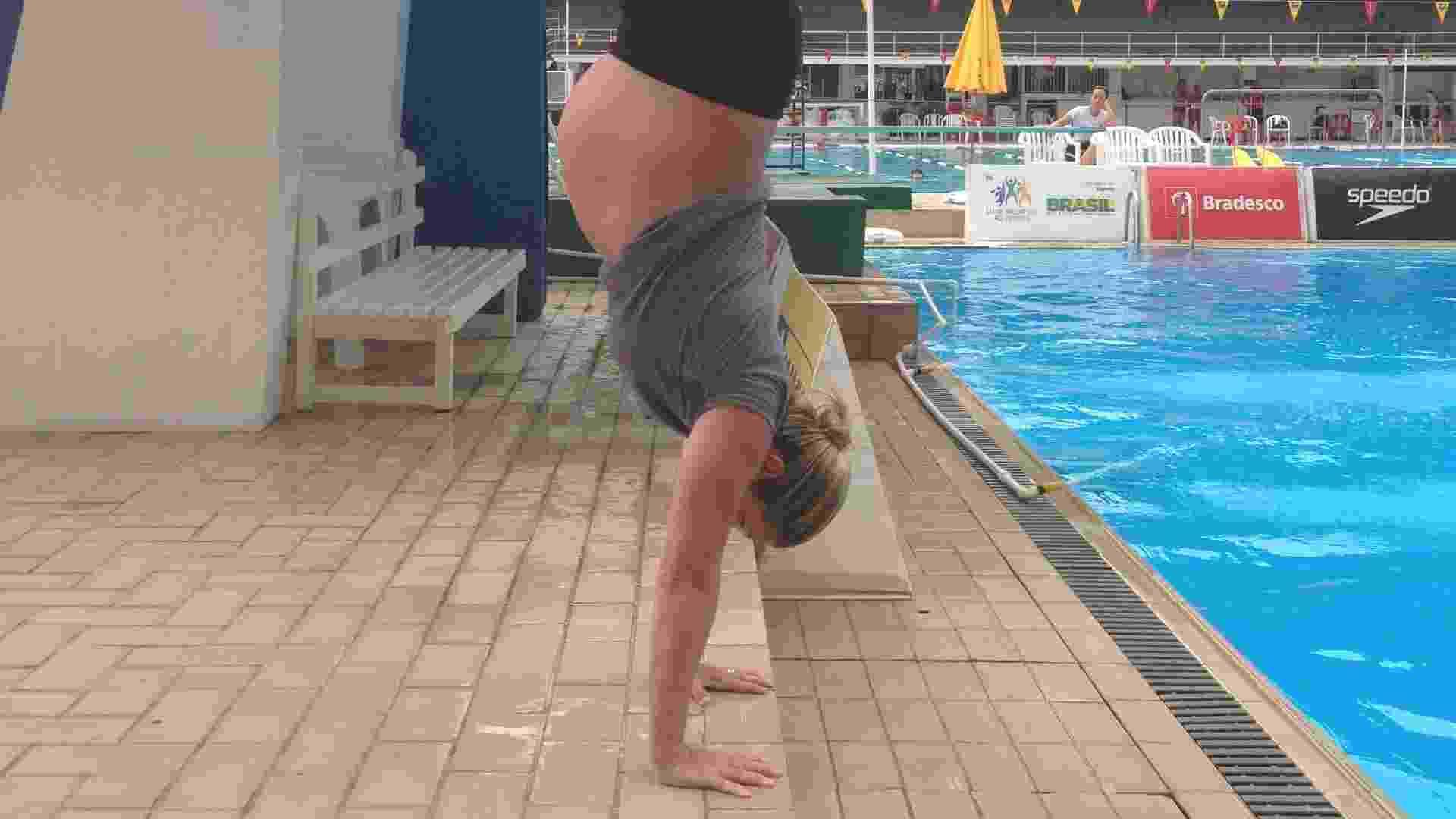 Aos 32 anos, a saltadora Juliana Veloso se prepara para dar a luz pela segunda vez - Arquivo pessoal