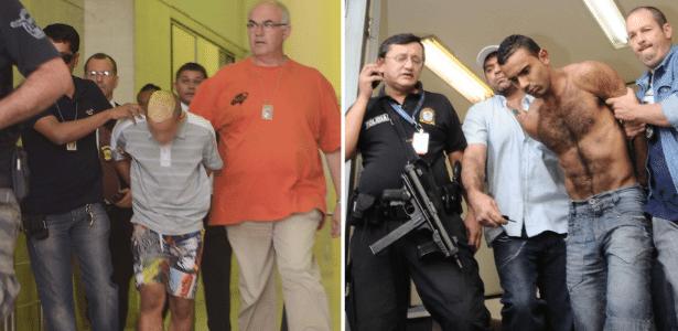 À esquerda, o menor suspeito de participar do crime e à direita Vitor Miguel dos Santos - Tércio Teixeira/Futura Press e Adriano Lima/Brazil Photo Press
