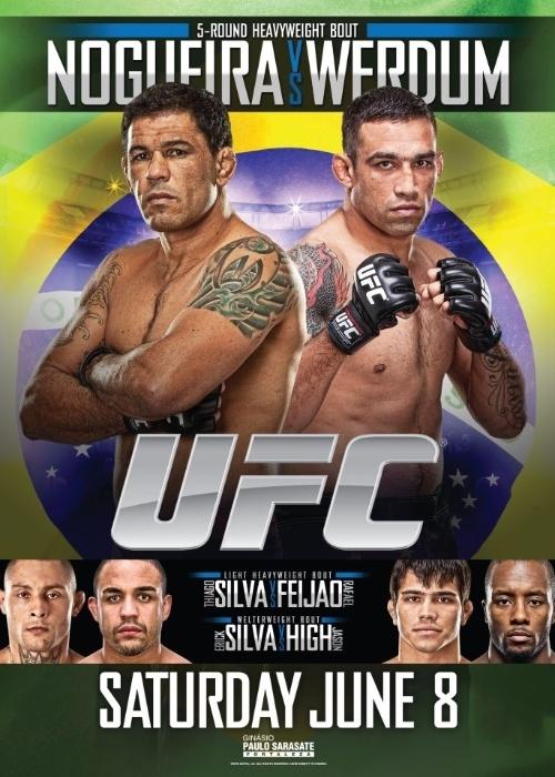 Cartaz da final do TUF Brasil 2, que terá a final do reality show do UFC e o duelo de técnicos Minotauro e Werdum, dia 8 de junho, no