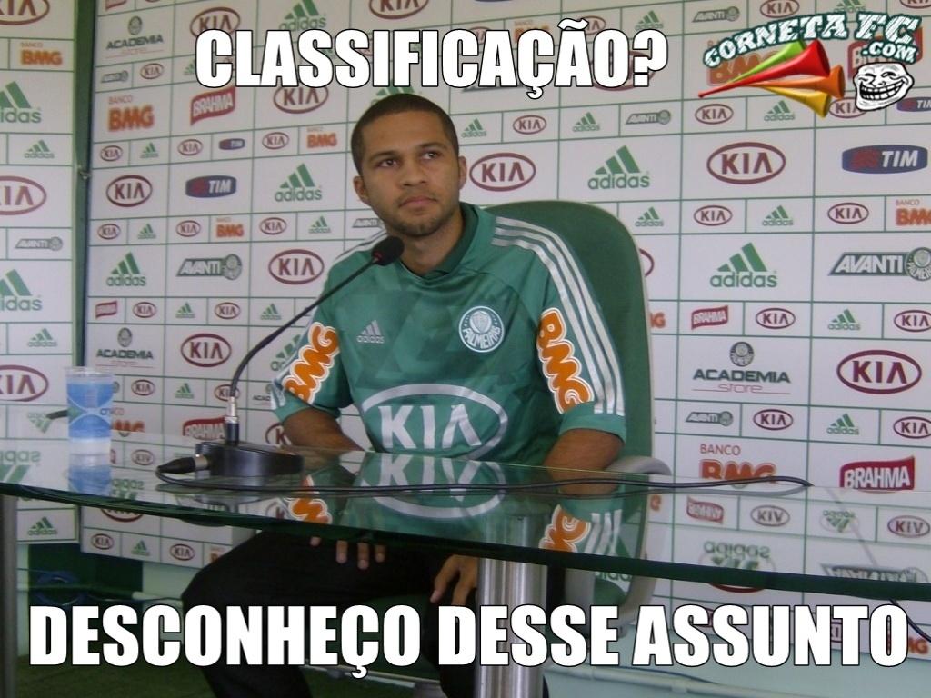 Corneta FC: Novo reforço do Palmeiras não fala sobre classificação