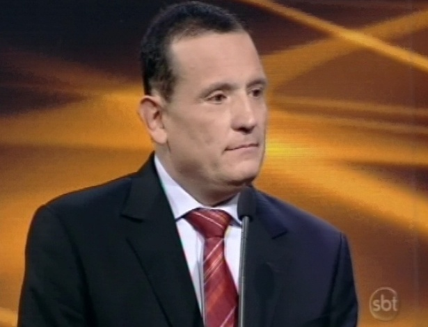 28.abr.2013 - Roberto Cabrini participa do Troféu Imprensa 2013