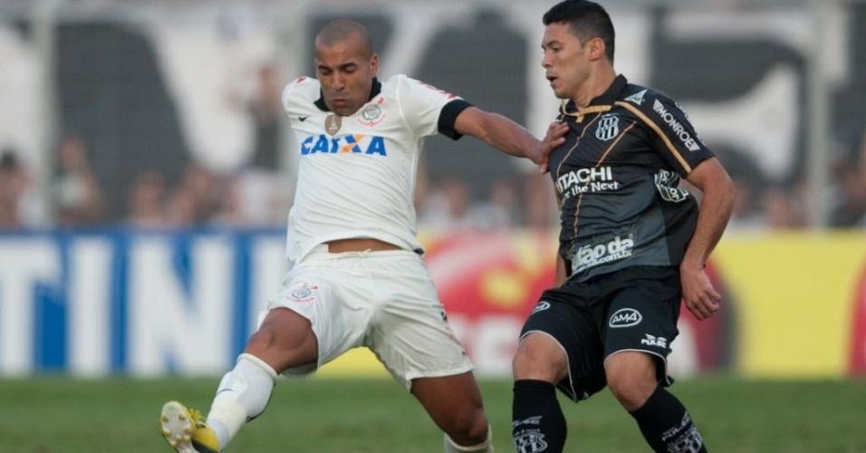 Emerson Sheik marcou o segundo gol do Corinthians no duelo contra a Ponte Preta