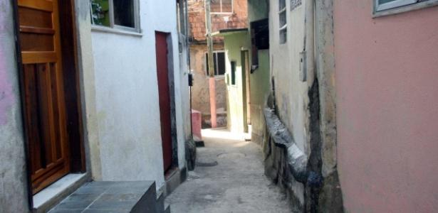Rua vazia após a operação da PM para ocupação das favelas Cerro-Corá, Guararapes e Vila Cândido, no Cosme Velho - Zulmair Rocha/UOL