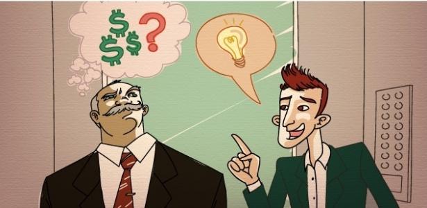 Técnica ensina empreendedor a ter habilidade para apresentar seu negócio numa conversa de elevador - Arte/UOL