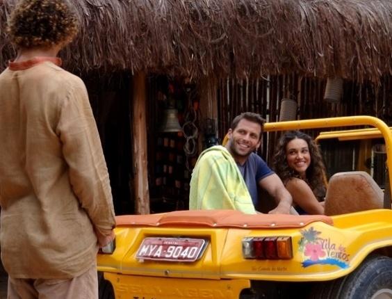"""30.abr.2013 - Em """"Flor do Caribe"""", Cassiano se refugia na casa de Veridiana após Alberto descobrir esconderijo"""