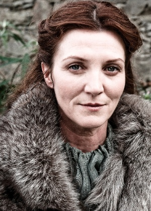 "Atriz Michelle Fairley interpreta Catelyn Stark na série ""Game of Thrones"""