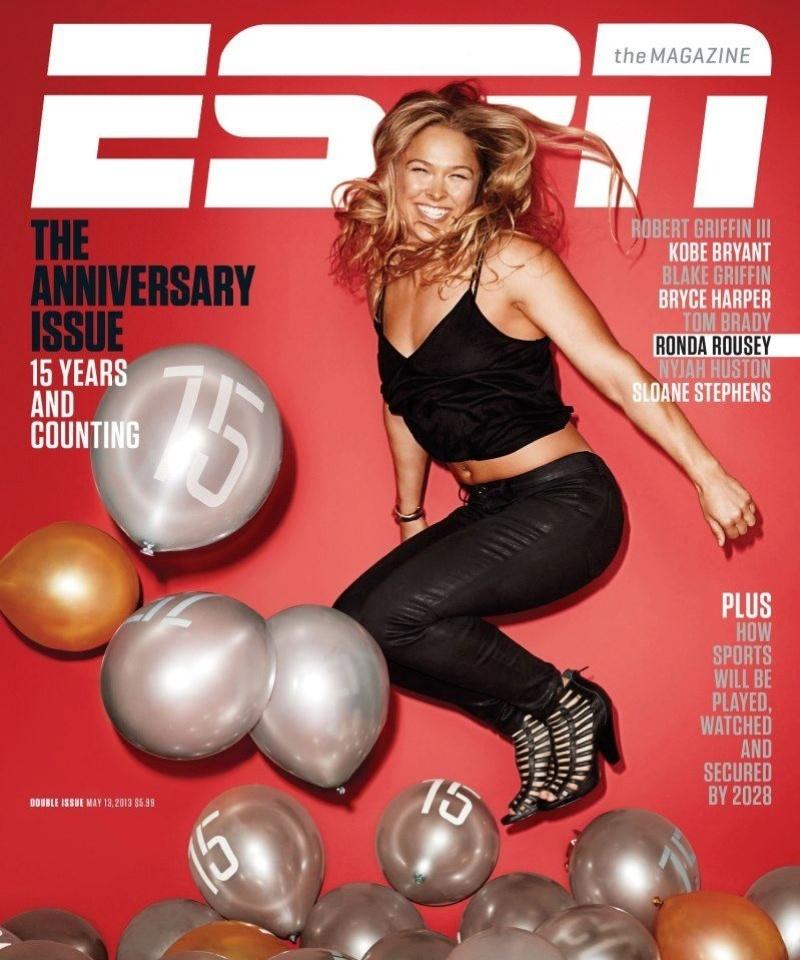 Ronda Rousey, campeã do UFC, é capa da revista ESPN, dos Estados Unidos
