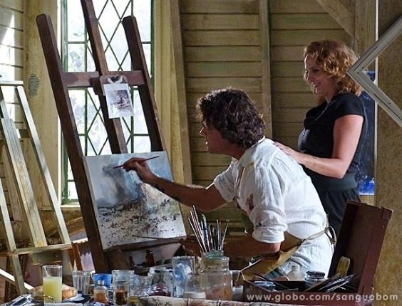 """1.mai.2013 - Em """"Sangue Bom"""", Perácio falsifica quadros de Renoir para enganar a própria mãe"""