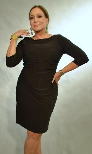 """30.abr.2013 -  Susana Vieira posa durante o lançamento da novela """"Amor à Vida"""" no Projac, no Rio. Ela será Pilar, mãe da protagonista Paloma (Paolla Oliveira)"""