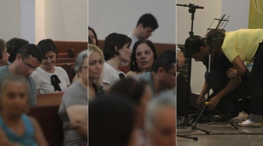 2.mai.2013 - Deborah Secco compareceu a missa realizada na paróquia São Marcos, na zona oeste do Rio
