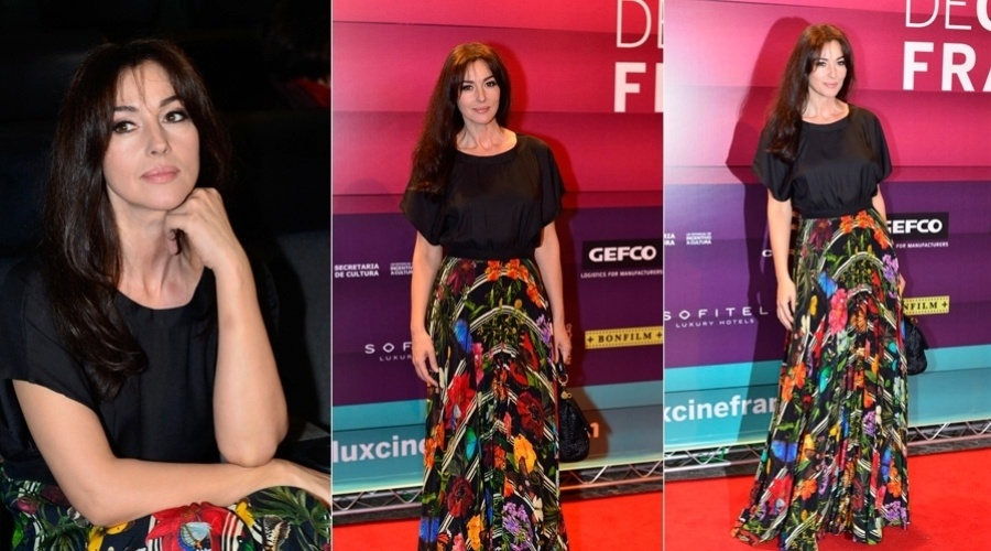"""2.mai.2013 - Monica Bellucci prestigiou a abertura do """"Festival Varilux de Cinema Francês"""", no Cine Odeon BR, no centro do Rio"""