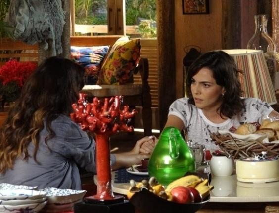 """3.mai.2013 - Em """"Flor do Caribe"""", Mila libera namoro de Natália com Juliano"""