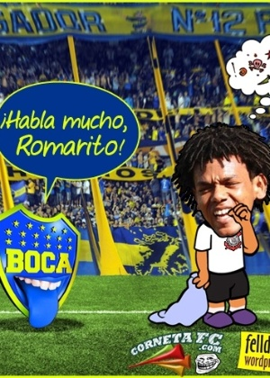 Corneta FC: Romarinho passa em branco e é cornetado na Bombonera