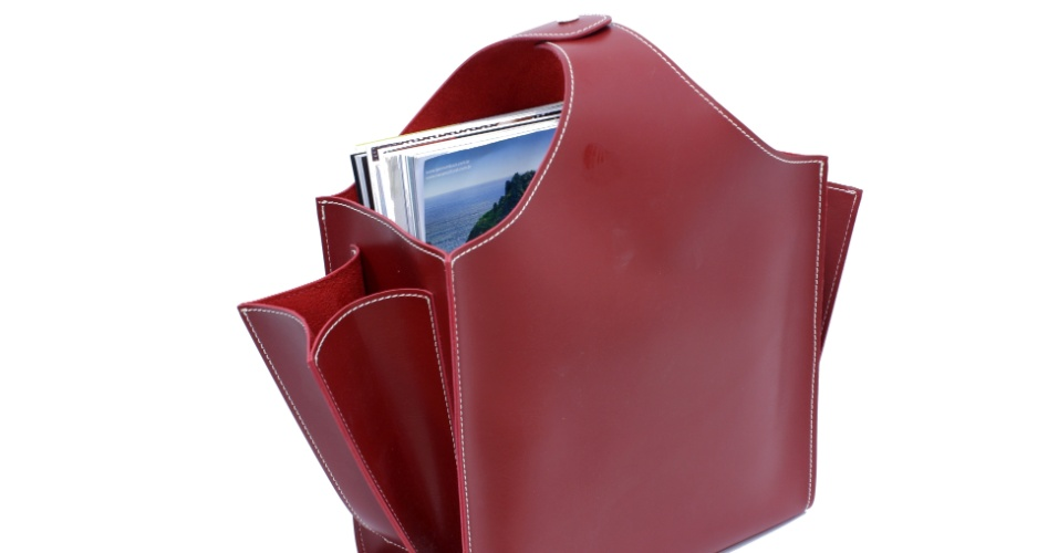 O revisteiro de couro é vendido na Papel Craft (www.papelcraft.com.br) por R$ 165 I Preços pesquisados em abril de 2013 e sujeitos a alterações