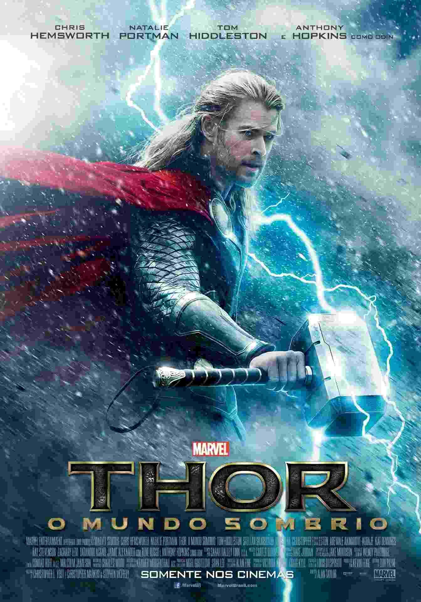"""Primeiro pôster brasileiro do filme """"Thor: O Mundo Sombrio"""" - Divulgação / Disney"""