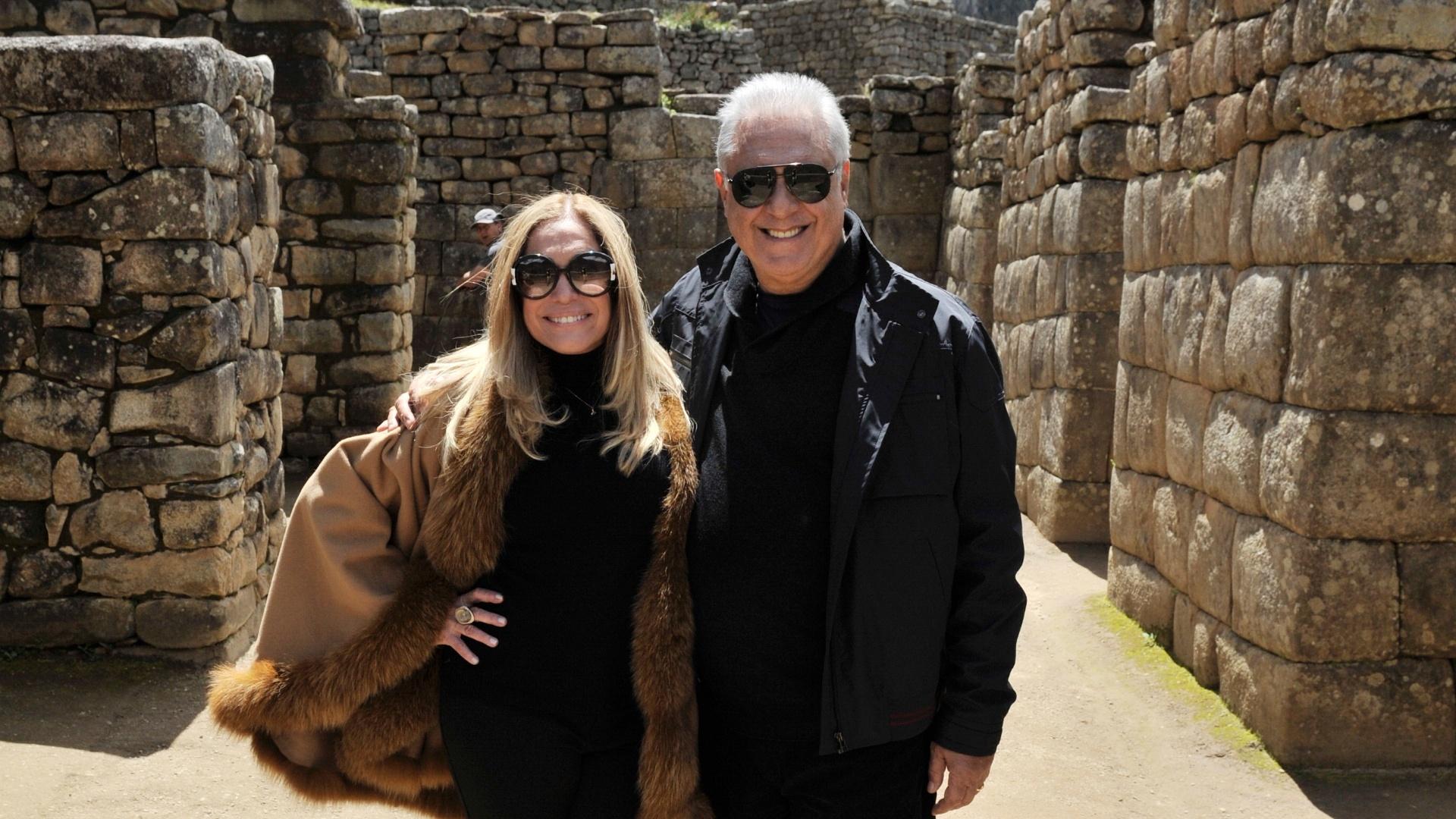 Susana Vieira e Antonio Fagundes durante gravação no Peru