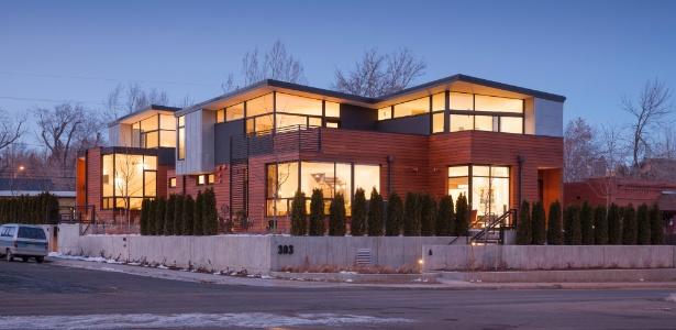 As construções foram projetadas por Rich Sands (morador de uma das casas) e pela empresa Arch11 - Robert Reck/The New York Times