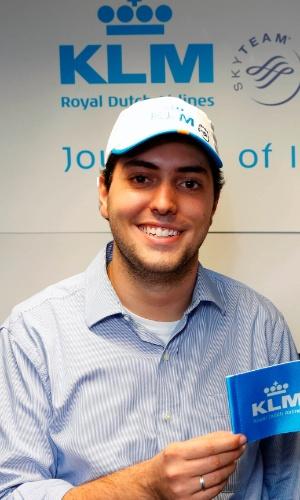 Estudante de Engenharia Pedro Henrique Dória Nehme, de Brasília, vencedor do concurso da KLM que vai levá-lo para o espaço