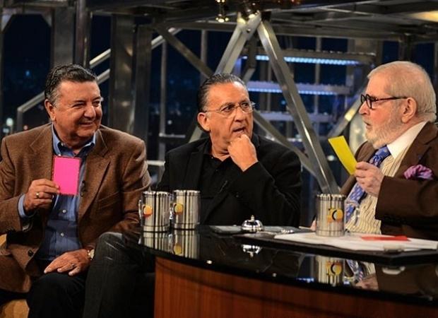 3.mai.2013 - Galvão Bueno e Arnaldo Cezar Coelho participam do
