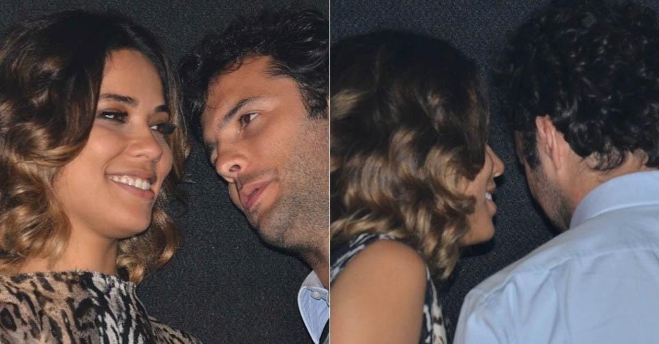 4.mai.2013 - Bia Antony, ex de Ronaldo Fenômeno, aparece acompanhada no show de Wanessa