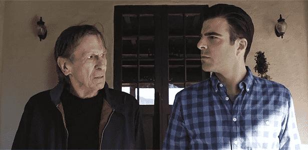 Cena do filmete da Audi com dois Spock, Leonard Nimoy (esq.) e Zachary Quinto: fascinante mesmo... - Reprodução