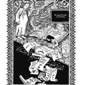 """""""HABIBI"""" (Craig Thompson): Livro que já se tornou um épico entre as graphic novels conta a história de Dodola e Zam, um jovem casal de escravos fugitivos que precisa lidar contra o fervor religioso de seu país e lutar pelo primeiro amor. É uma história fictícia, mas inspirada no Corão e em histórias atuais - Divulgação"""