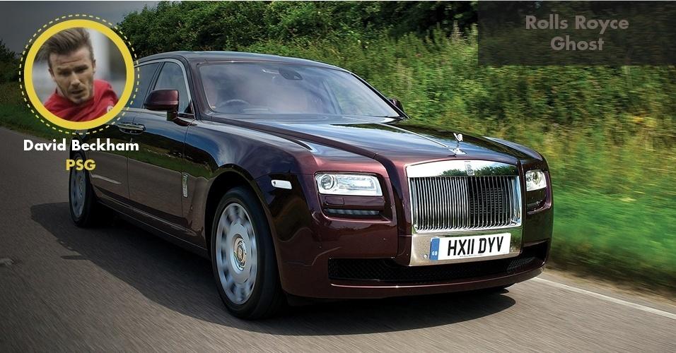 Mas é claro que o craque inglês possui mais máquinas. Uma delas é o Rolls Royce Ghost, avaliado em R$ 2,3 milhões