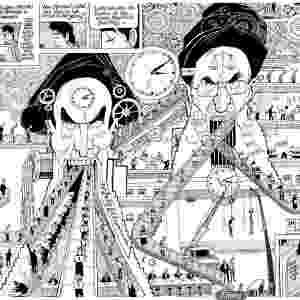 """""""O PARAÍSO DE ZAHRA"""" (Amir & Khalil): Lançada no Brasil em 2012, a graphic novel conta a história de Mehdi, um jovem que some depois de um protesto na Praça da Liberdade, em 2009, no Irã, no calor dos conflitos da Primavera Árabe. O livro reúne algumas tiras lançadas no blog de mesmo nome - Divulgação"""