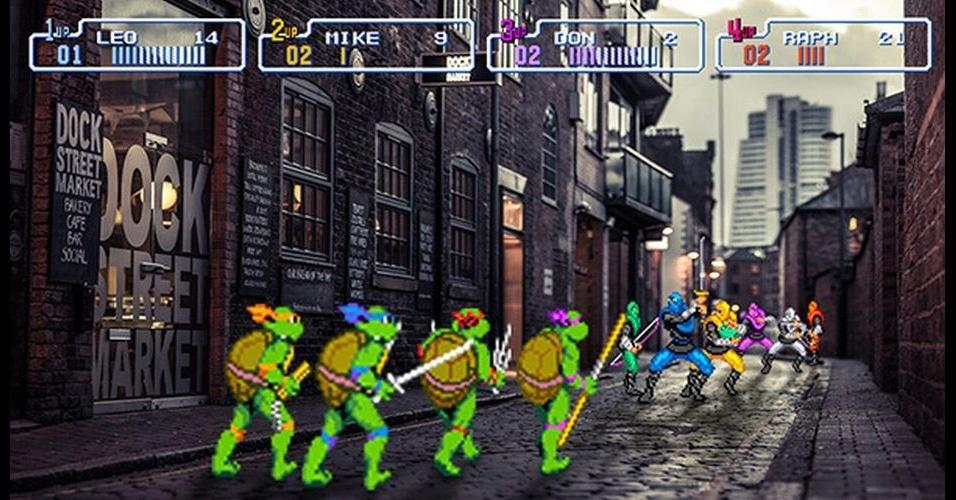 Os designers Victor Sauron e Glauber Tanaka pegaram personagens famosos do mundo dos games em 16 bits e colocaram em cenários da vida real, usando editores de imagens