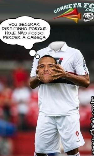 Corneta FC: Luis Fabiano revela solução para não perder a cabeça em decisão