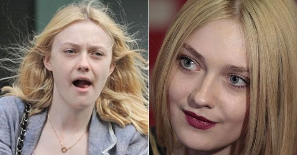 Famosa por seus papeis no cinema quando era apenas uma criança, Dakota Fanning surpreende ao usar maquiagens mais fortes