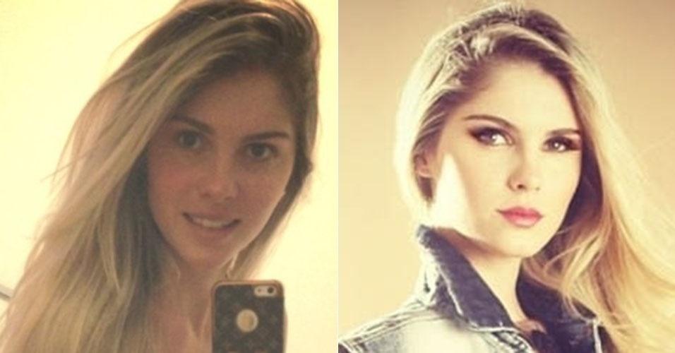 """Filha de Monique Evans, a modelo Bárbara Evans ganha ar de """"mulherão"""" quando usa maquiagem"""