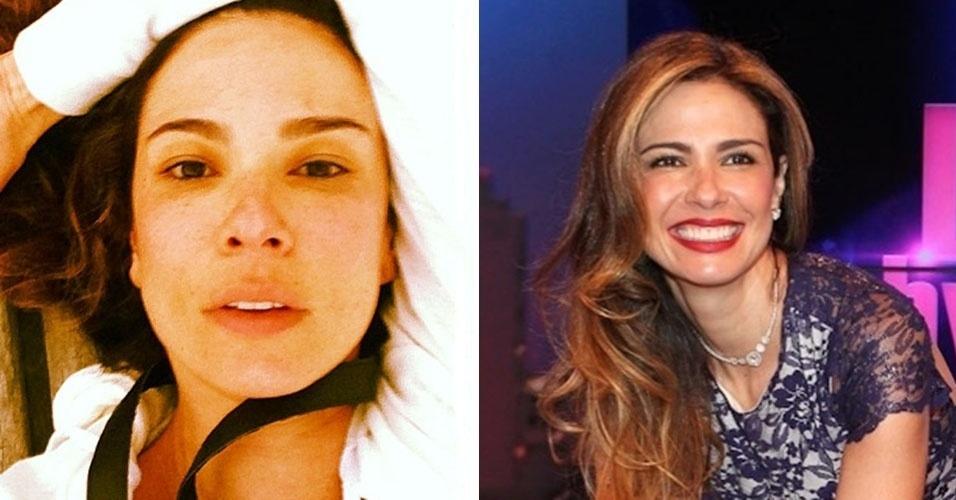 Luciana Gimenez é outra que surpreende quando aparece sem os batons vermelhos que costuma usar em eventos sociais