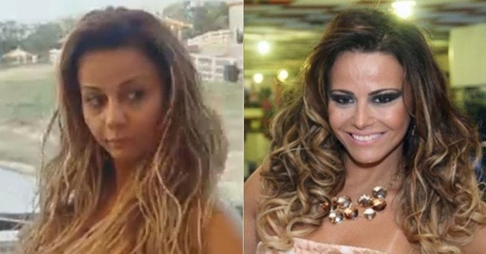 """Vencedora do reality show """"A Fazenda 5"""", Viviane Araújo também mostrou como fica de lavada durante o confinamento"""
