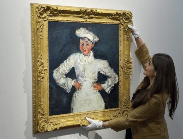 """""""O Mestre-pasteleiro"""", do pintor francês Chaïm Soutine, foi arrematada por US$ 18 milhões - Justin Lane/EFE"""