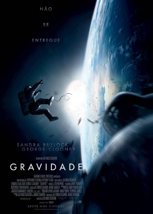 """Pôster nacional de """"Gravidade"""", de Alfonso Cuarón - Divulgação"""