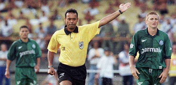 Sidrack Marinho dos Santos na final Vasco x Palmeiras, em 1997