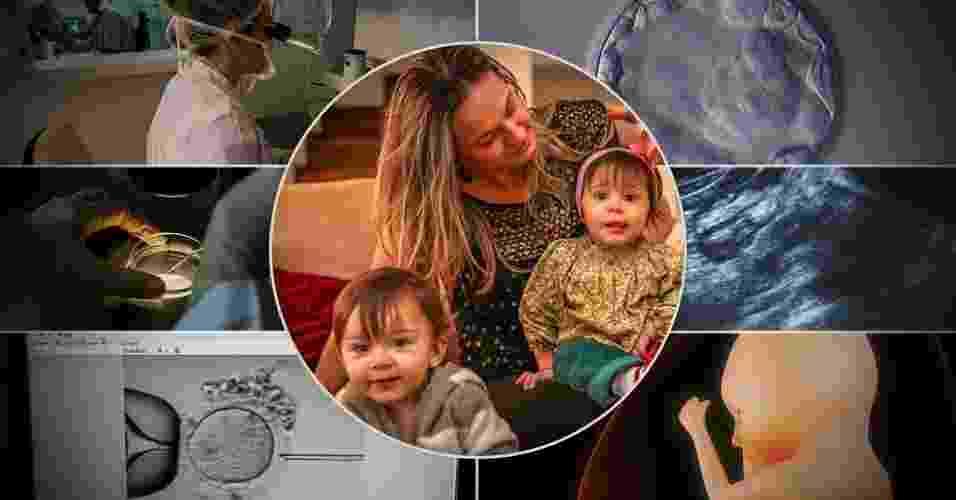 Arte para abertura de álbum com passo a passo de um tratamento de fertilização in vitro - Arte UOL (Leandro Moraes-UOL/Grupo Huntington Reprodução Assistida/Thinkstock)