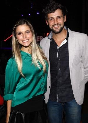 10.mai.2013 - Os ex-BBBs Flavia Vianna e Fernando Justin - Foto Rio News