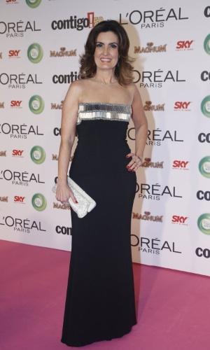 13.mai.2013 - A apresentadora Fátima Bernardes participa do 15º Prêmio Contigo!, no Copacabana Palace, no Rio de Janeiro