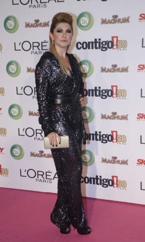 13.mai.2013 -  A atriz Antônia Fontanelle vai ao 15º Prêmio Contigo!, no Copacabana Palace, no Rio de Janeiro