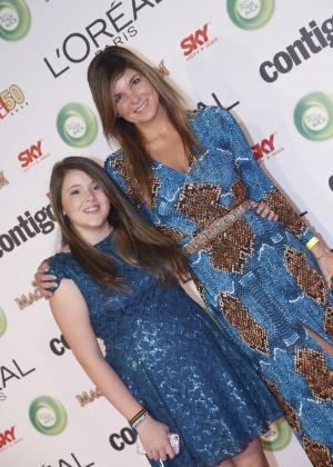 A atriz Cristiana Oliveira e a filha Antônia particpam do 15º Prêmio Contigo!, no Copacabana Palace, no Rio de Janeiro