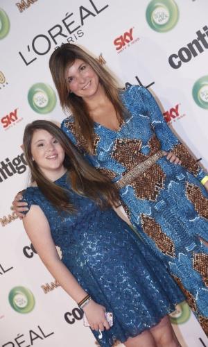 13.mai.2013 - A atriz Cristiana Oliveira e a filha Antônia particpam do 15º Prêmio Contigo!, no Copacabana Palace, no Rio de Janeiro