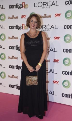 """13.mai.2013 - Destaque em """"Avenida Brasil"""", Letícia Isnard comparece ao 15º Prêmio Contigo! de TV"""
