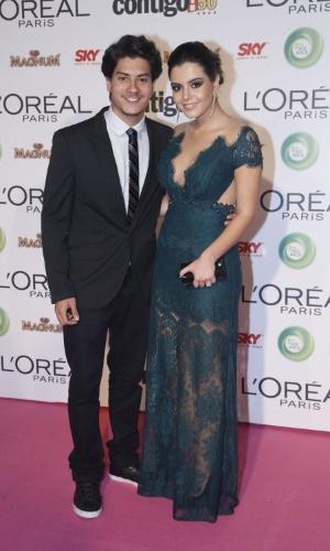 13.mai.2013 - Giovanna Lancelotti e o ator Artur Aguiar participam do 15º Prêmio Contigo!, no Copacabana Palace, no Rio de Janeiro